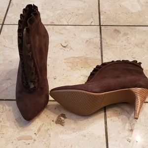 Lovely People Shoes - Lovely People brown suede high heel  booties